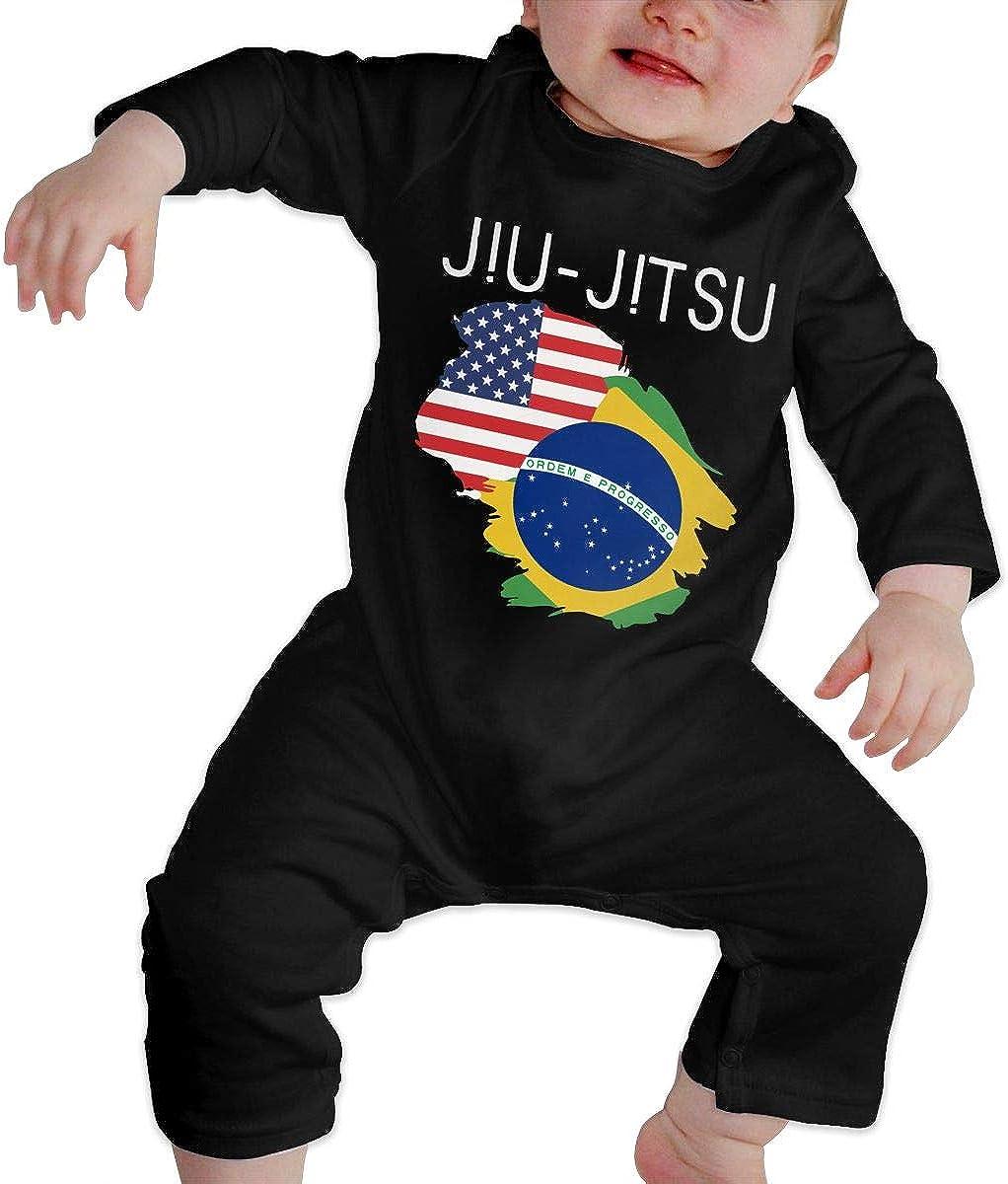 Jiu Jitsu USA Brazil Flag Organic One-Piece Bodysuits Coverall Outfits BKNGDG8Q Toddler Baby Boy Romper Jumpsuit