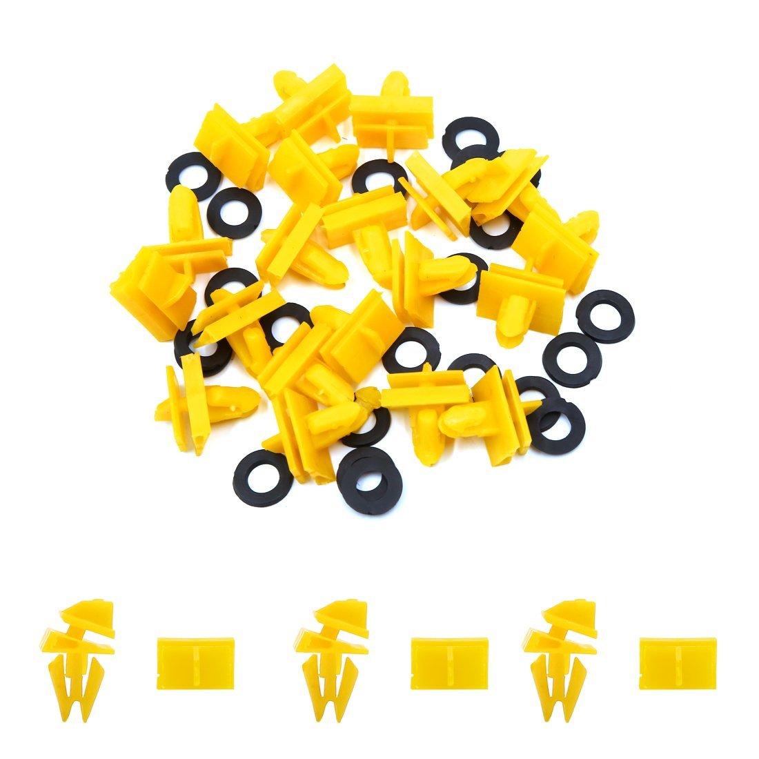 Amazon.com: eDealMax 20Pcs 10mm agujero de presión Amarillo en Los Clips del remache Interior Panel de la puerta del coche: Automotive