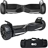 CHO TM All Terrain Rugged 6.5 Inch Wheels Hoverboard Off-Road Smart Self Balancing Electric Scooter With built-In Bluetooth Speaker LED Lights UL2272 Certified