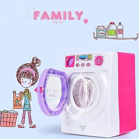 Faironly Kids Play House Game Simulación de Juguete máquina de Lavado Juguete eléctrico con Sonido de luz