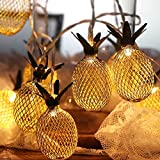 OurWarm Pineapple LED String Lights 5.4Ft Fairy Lights Battery...
