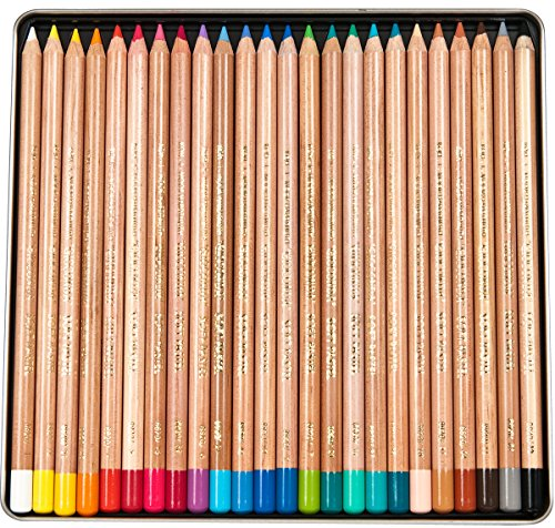 (Koh-I-Noor Gioconda Soft Pastel Pencil Set, 24/Each Packed in Tin, Assorted Colored Pencils (FA8828.24))