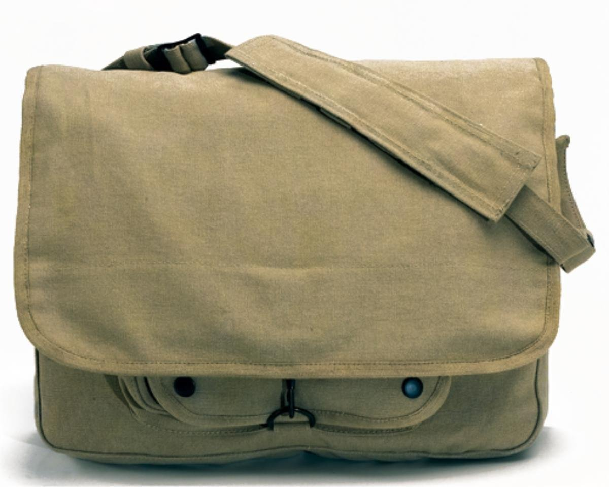 Rothco Vintage Canvas Paratrooper Bag - Khaki
