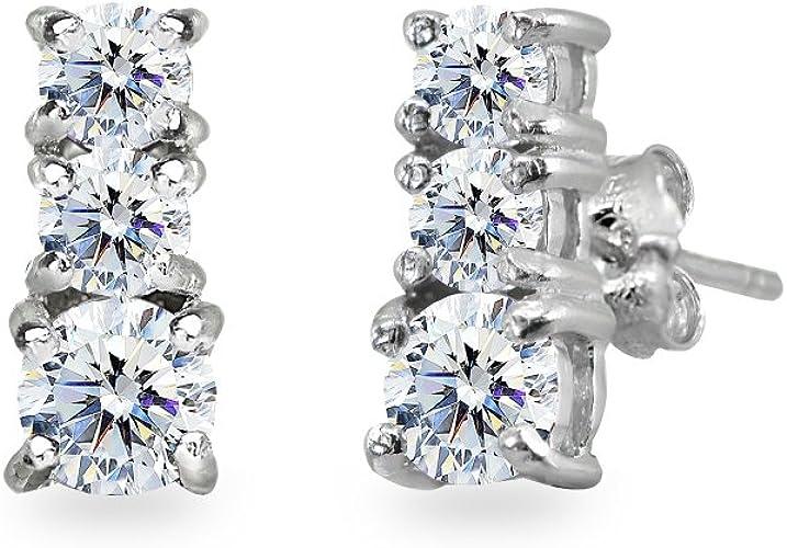 Gemstar Jewellery 18K Black Gold Plating Round Shape Yellow Citrine Bridesmaid Prom Dangle Earrings