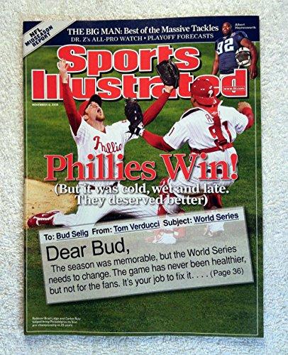Brad Lidge & Carlos Ruiz - Philadelphia Phillies - 2008 World Series Champions! - Sports Illustrated - November 10, 2008 - Tampa Bay Rays - SI - No Address Label! (2008 World Series)