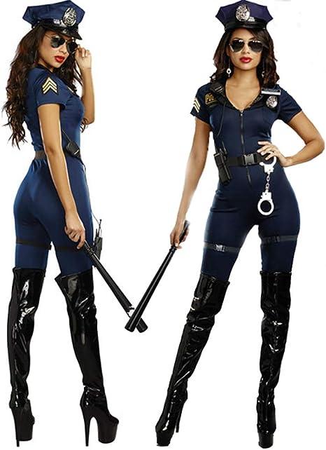 GYH Traje De Policía Disfraz Policewoman Bodysuit Uniforme De ...