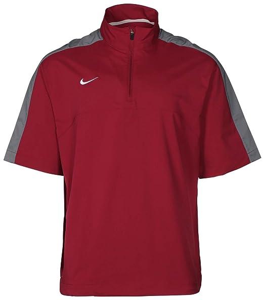 ed18543e89b8 Amazon.com  Nike Mens S S Hot Jacket Small Cardinal Flint Grey ...
