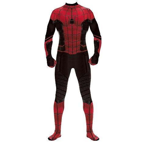 QQWE Hombre Mujer Traje de Cosplay de Spiderman Superhéroe ...