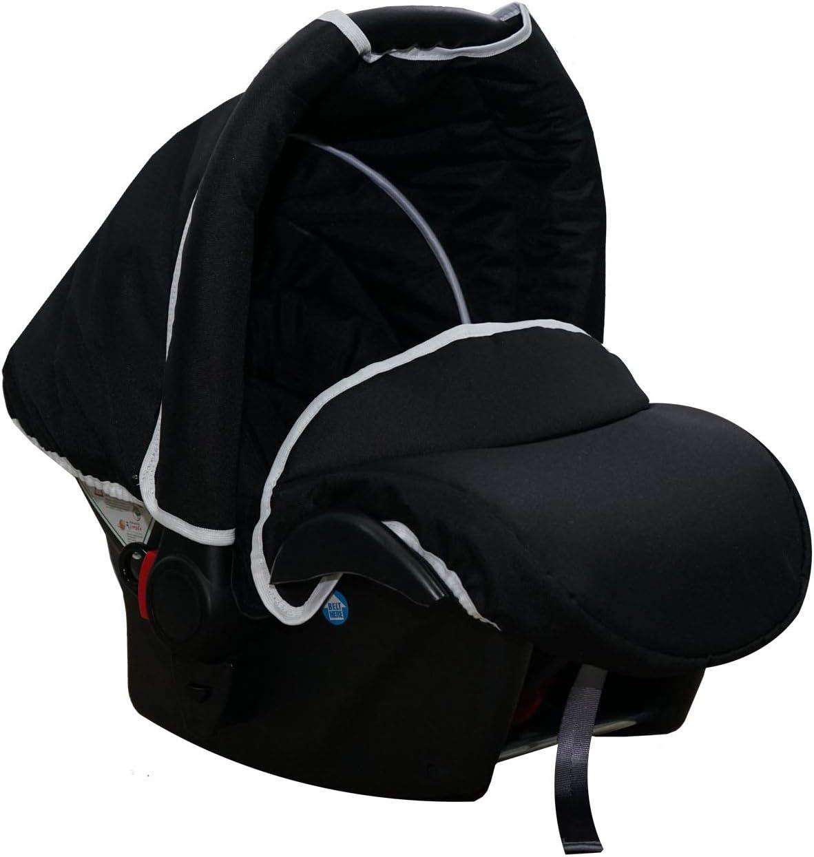 Skyline Poussette combin/ée 3 en 1 avec structure en aluminium nacelle sport et nacelle Noir nacelle ISOFIX