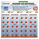 Avid Hearing Aid #13 Battery (40 Count)