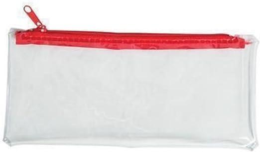 6 estuches transparentes de plástico con cremallera para lápices: Amazon.es: Hogar