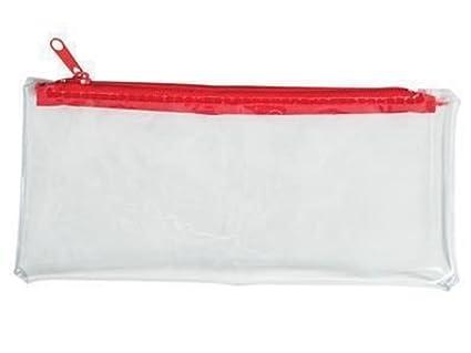 6 estuches transparentes de plástico con cremallera para ...
