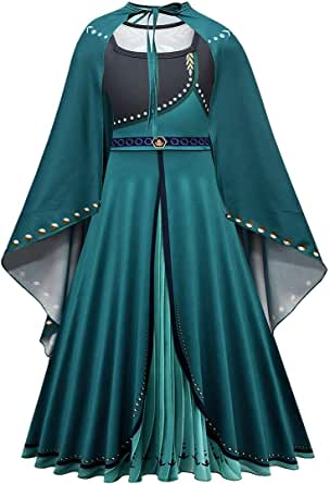 CosplayDiy Girl's Princess Inspired Snow Queen Elsa Party Cosplay Costume Dress Age 3+