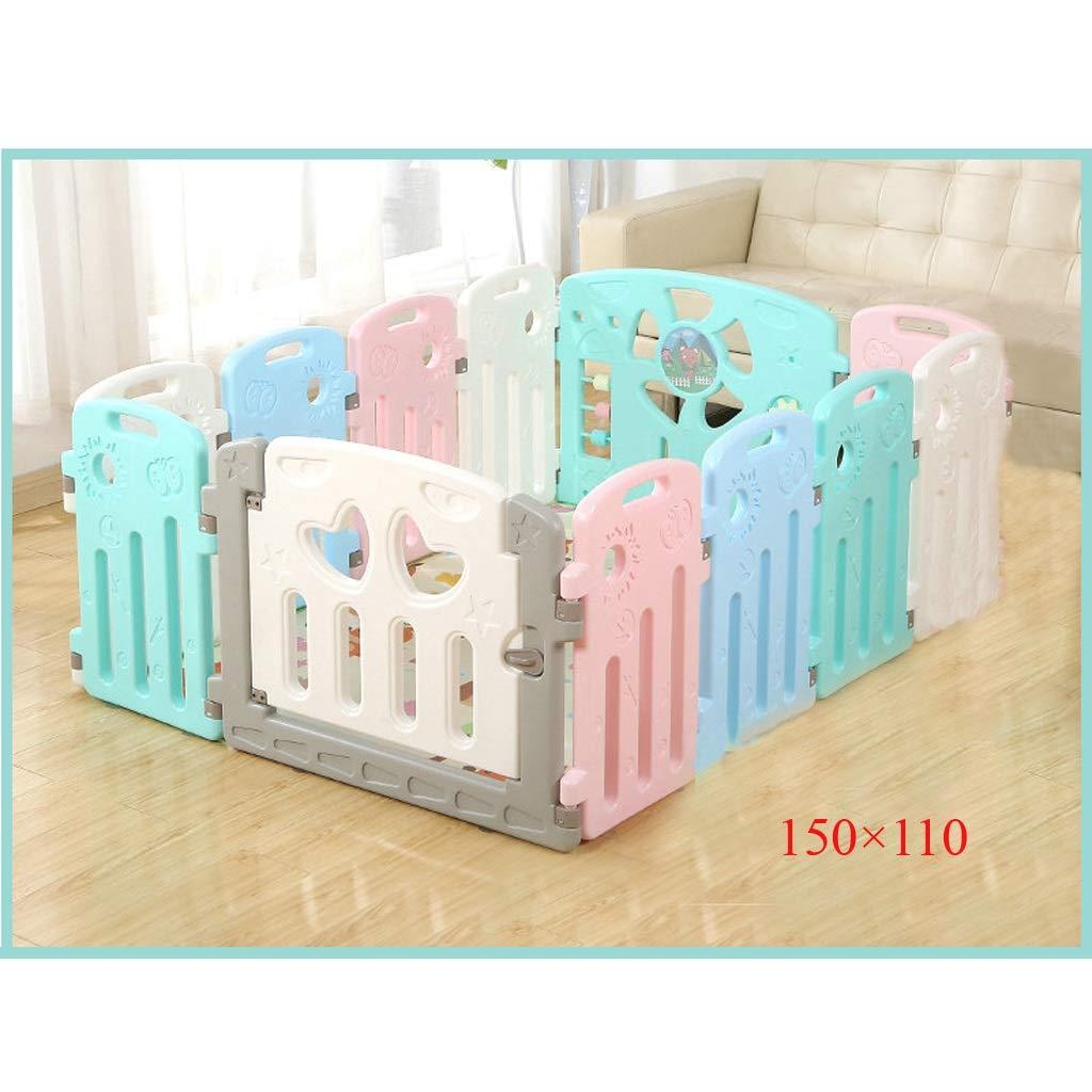 家庭用子供用フェンスベビークロールマット屋内プレイフェンス幼児用安全フェンスベビーフェンス QYSZYG (サイズ さいず : 150CM×110CM) 150CM×110CM  B07S2QR4GH