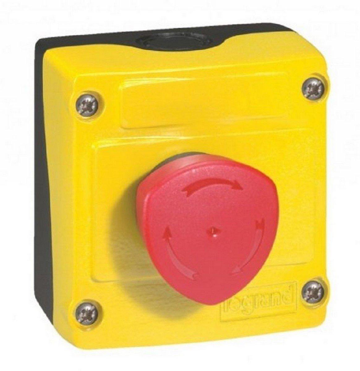 Legrand LEG24212 Osmoz Boîte à bouton équipée avec Trou/Coup de poing pousser/Tourner signalisation lumineux