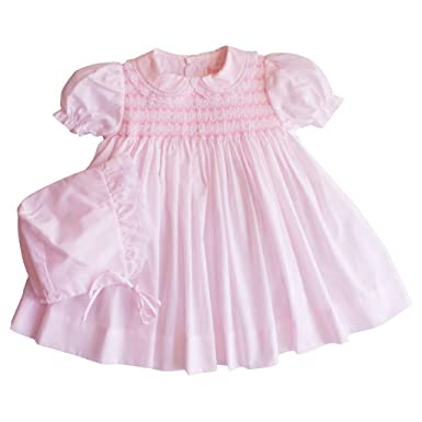 e94e1bfdbec2 Amazon.com  Petit Ami Dress with Bloomers and Hat with Smocking and ...