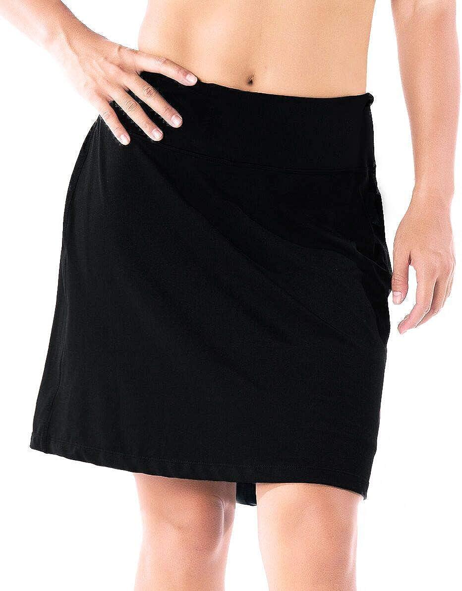 "Yogipace Women's UV Protection 17"" Long Tennis Running Golf Skort Active Skirt: Clothing"