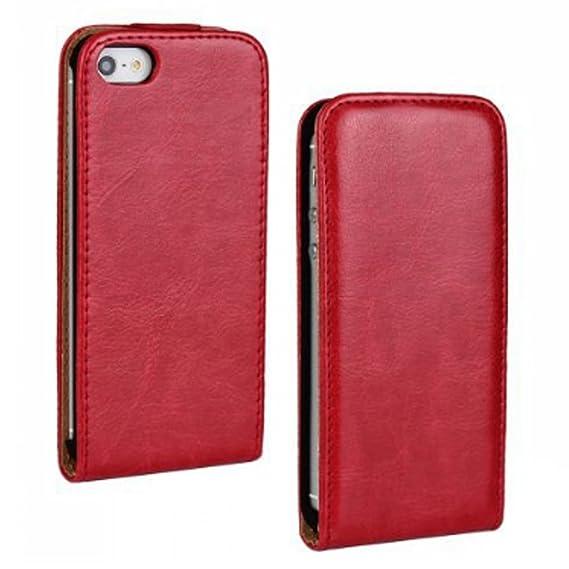 FDTCYDS iPhone 4 hülle, iPhone 4s hülle Flip nach Oben und unten Handyhülle Premium PU Leder Tasche Case Etui Handy Schutzhül