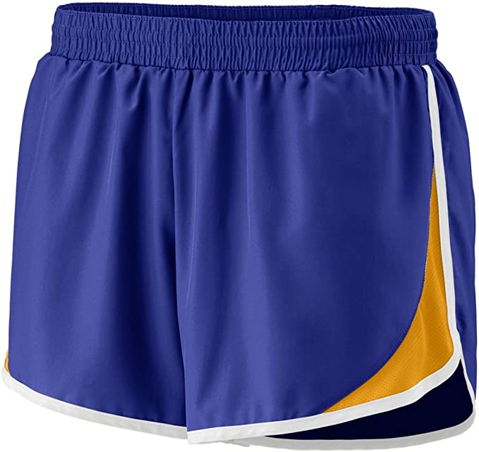 Augusta Ladies' Junior Fit Adrenaline Short Purple_Gold_White Xl