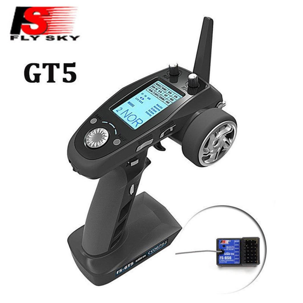 Flysky GT5 2.4G 6CH Gyro Transmitter with BS6 Receiver Fail-Safe for RC Car Boat Durable