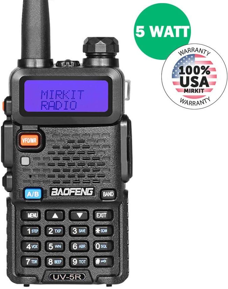 BaoFeng UV-5R MK2 2019 Handheld Dual Band Two Way Ham Radio, Mirkit Edition