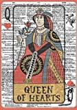 Queen of Hearts Notebook (7 x 10 Inches): A Classic Ruled/Lined Composition Book/Journal To Write In With Alice In Wonderland Card Dictionary Art Best Friend and Other Women and Teen Girls