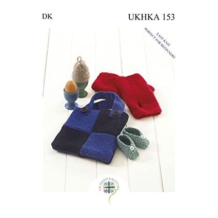 Amazon Double Knitting Dk Pattern For Easy Knit Baby Shoes Egg
