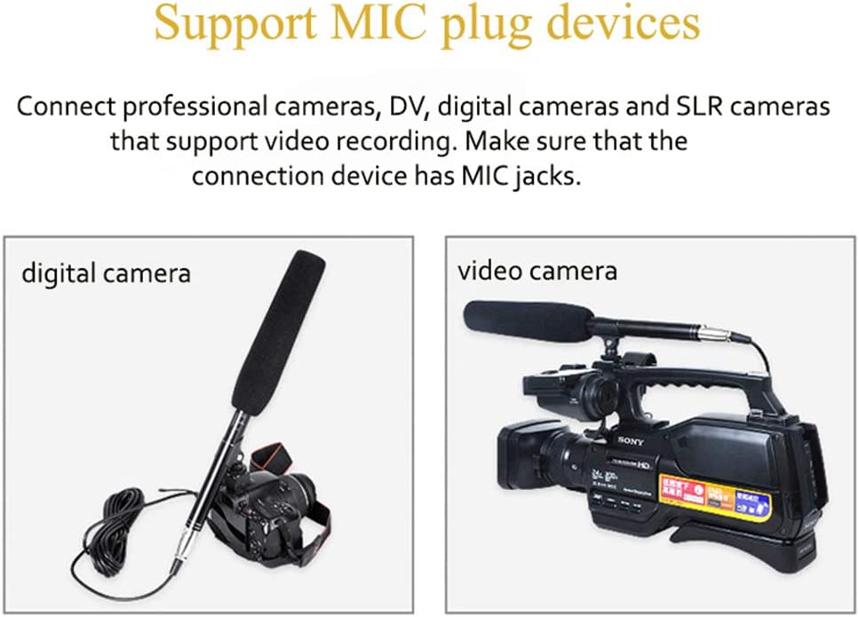 WWK Interview Dedicated Microphone Can Be Connected to A Camcorder DV Digital Camera Support Use Battery Lightweight Suitable for Interview Shooting Recording Broadcast
