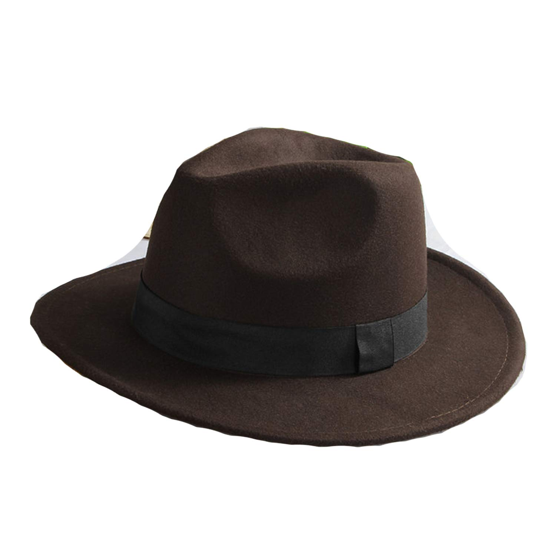 Casual Panama Sun Hats Solid Color Fedora Men Summer Hats Gangster Cap Church Hats Wide Brim Sunhats