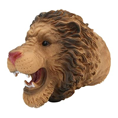 Tnfeeon Hand Puppet Lion, Animal Head Hand Puppet Toys Simulating Animal Shaped Lion Hand Doll Toy Role Play Props: Toys & Games
