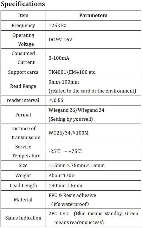LuxtechPro IC Access Control Reader D3-D Contactless RFID Card Reader 125KHz RF Receiver Circuit Design Micro-Controller Decoding Algorithms