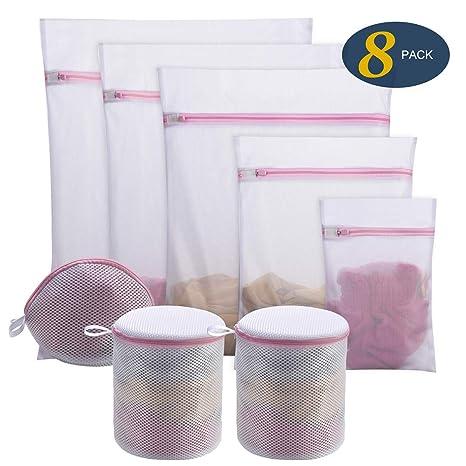 Amazon.com: Seamei - Bolsas de lavandería de malla para ...