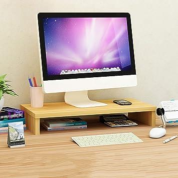 Monitor De Soporte Vertical con Almacenamiento De Teclado|TV PC Computadora Portátil Elevador De Pantalla|Organizador De Almacenamiento De Escritorio|Instalación Fácil para: Amazon.es: Electrónica