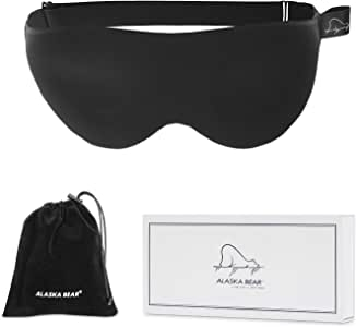 ALASKA BEAR Memory Foam Sleep Mask with 3D Molded Cups, a Contour Pillow for Your Eyes