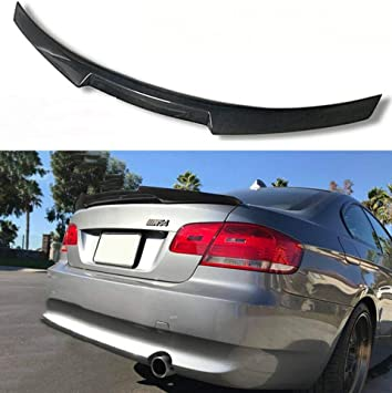 FOR 2007-13 E92 COUPE SPORT REAL CARBON FIBER REAR WINDOW ROOF SPOILER WING