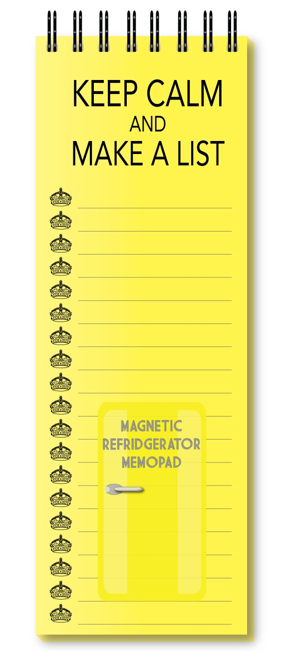 Nourish Keep Calm and Make a List Yellow Magnetic Refrigerator Memo Pad (B00ZIF26EK) Amazon Price History, Amazon Price Tracker