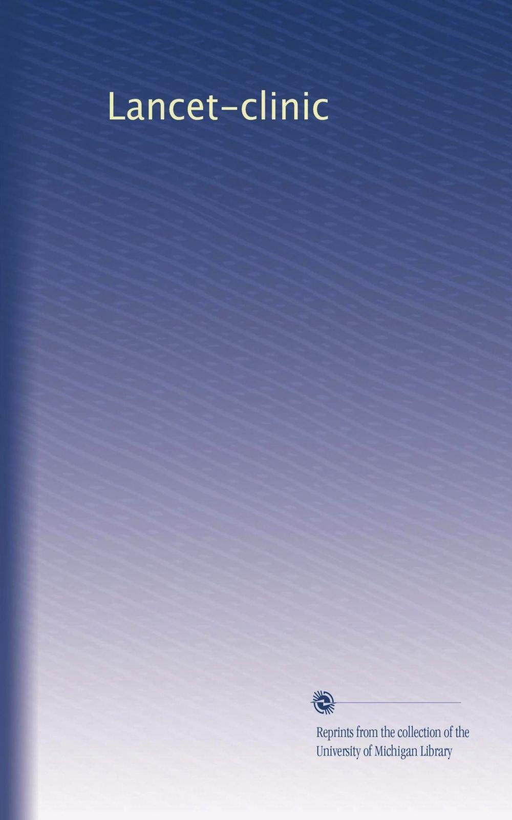 Download Lancet-clinic (Volume 27) pdf epub