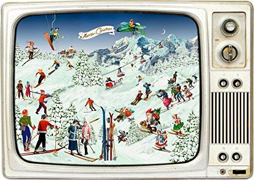 Wand-Adventskalender - Advents-Retro-TV