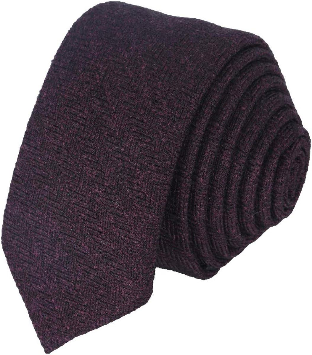 Fatto a mano Yorkshire Tweed Self Cravatta Papillon Punta di Diamante-BLU NAVY SPINA DI PESCE