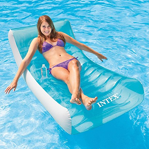 Intexx Intex Inflatable Rockin' Lounge Swimming Float Lounger Beach Lilo...