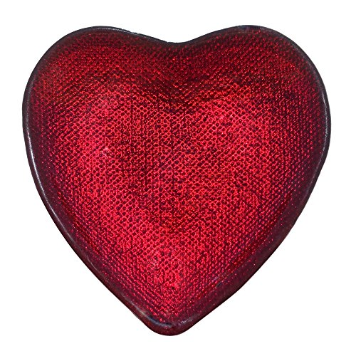Red Heart Plates (Red Pomegranate 4458-4 Heart Plates (Set of 4), Red)
