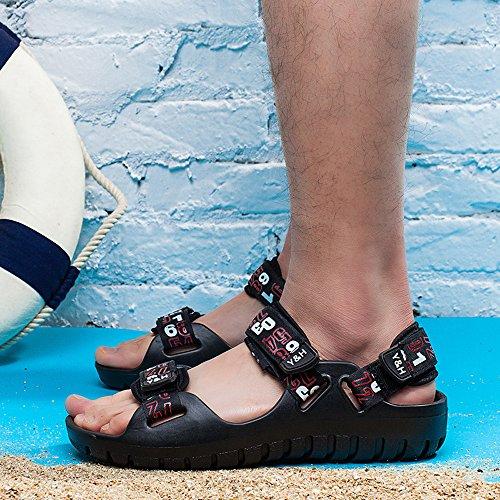 Enllerviid Mannen Klittenband Outdoor Wandelen Rivieroever Sport Sandalen Open Teen Sneldrogende Water Schoenen 137b Rood