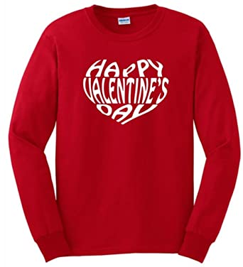 Amazon Com Thiswear Happy Valentine S Day Long Sleeve T Shirt Clothing