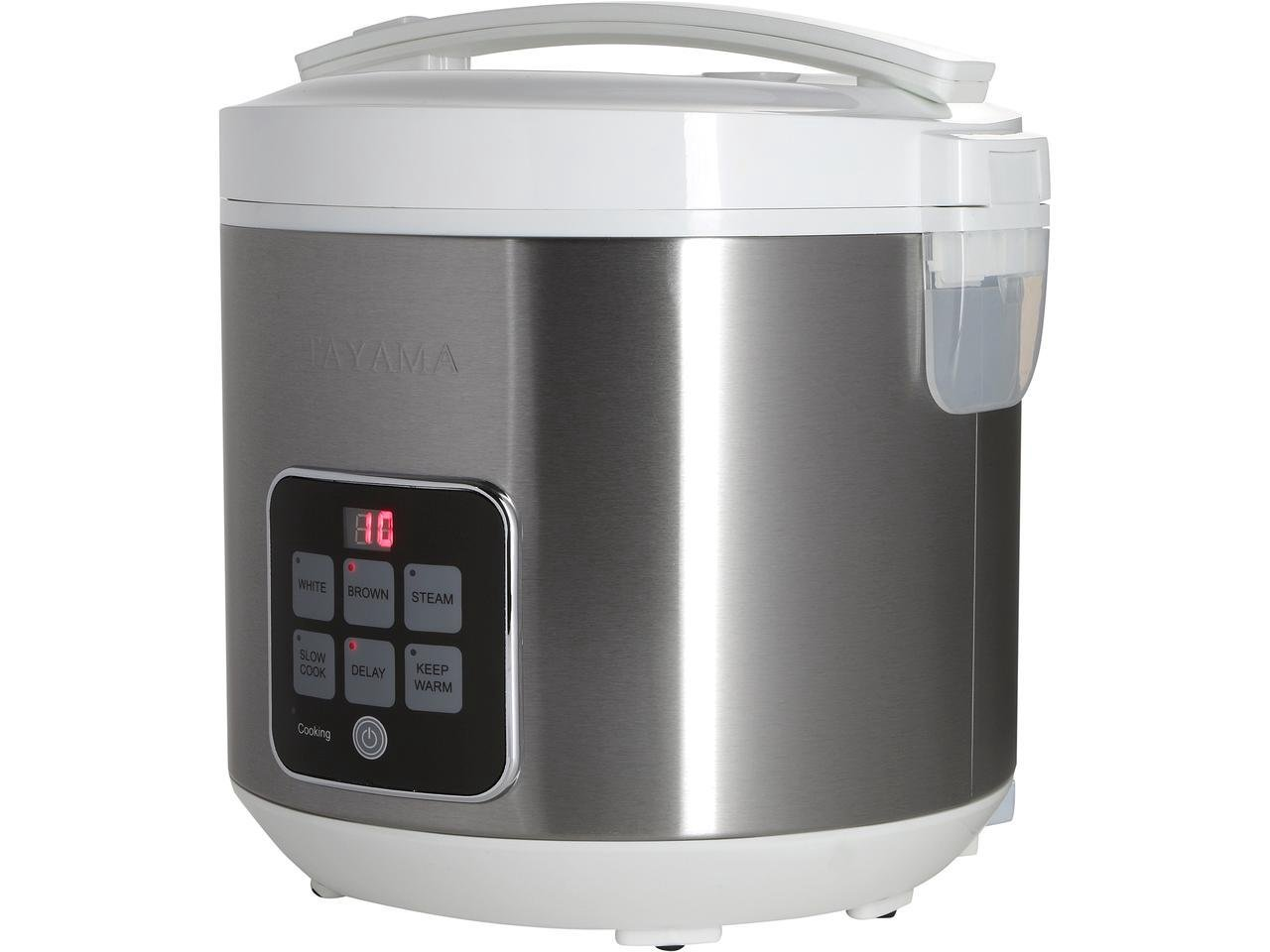 Tayama TRC-50H1 Digital Rice Cooker & Food Steamer, 10 Cup, Black