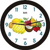 Relógio de Parede Redondo Frutas, Bell's, Preto