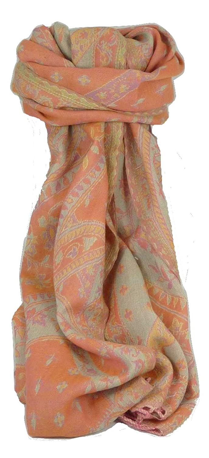 Muffler Scarf ID 5543 in Fine Pashmina Wool from the Heritage Range by Pashmina & Silk