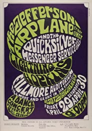 Jefferson Airplane 1966 Concert Poster, Fillmore AuditoriumMint Condition (BG-04)