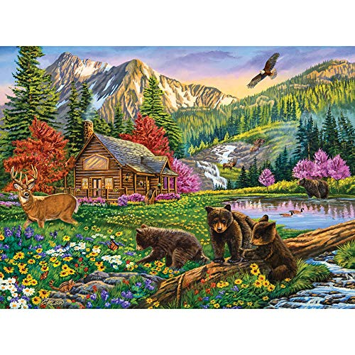 Bits and Pieces - Mountain Hideaway 1000 Piece Jigsaw Puzzles for Adults - Each Puzzle Measures 20