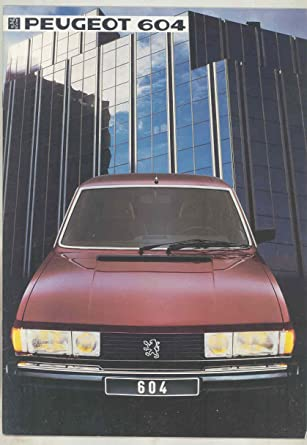 1984 Peugeot 604 GTD Turbo GTI Brochure French