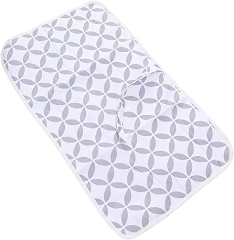 Black Portable Nappy Change Mat Waterproof Foldable Diaper Changing Pad Infant Cotton Urinal Mat for Home Travel Outside